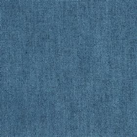 Anafi - Denim - Plain denim blue coloured fabric made from 70% viscose and 30% linen