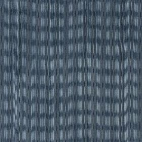Lipari - Ocean - Blurred horizontal and vertical lines printed on cotton and jute blend fabric in three different shades of blue