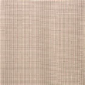 Tussock - Oat - A red-brown coloured very tiny grid pattern printed on a cream coloured 100% cotton fabric background