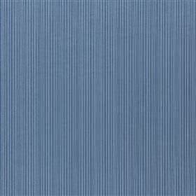Lulgrove - Denim - Very thin, closely spaced lines printed vertically in navy blue on 100% cotton fabric in a Royal blue colour