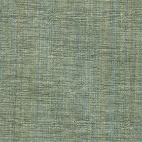 Saskia - Sage - Polyester, acrylic and viscose blend fabric woven in light shades of blue and grey