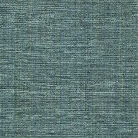Saskia - Teal - Polyester, acrylic and viscose blended together into a semi-plain denim blue coloured fabric