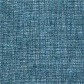 Saskia - Turquoise - Royal blue and denim blue coloured threads woven together into a fabric blended from polyester, acrylic and viscose