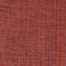 Saskia - Russet - Semi-plain polyester, acrylic and viscose blend fabric woven using burgundy and terracotta coloured threads