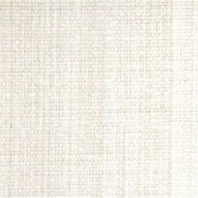 Saskia - Nougat - Bright white polyester, acrylic and viscose blend fabric woven with a few subtle, very pale grey threads