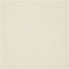 Highland Linen - Blanco - Plain milk white coloured linen and viscose blend fabric