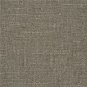 Highland Linen - Driftwood - Plain fabric made from an iron grey coloured blend of linen and viscose