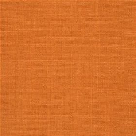Highland Linen - Melon - Bright pumpkin spice coloured fabric made from a mixture of linen and viscose