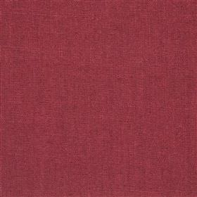 Highland Linen - Rose - Luxurious rich plum coloured linen and viscose blend fabric