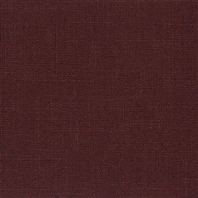 Highland Linen - Damson - Dark aubergine coloured fabric made with a mixed linen and viscose content