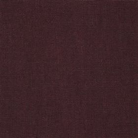 Highland Linen - Mulberry - Linen and viscose blend fabric made in a plain, very dark shade of purple