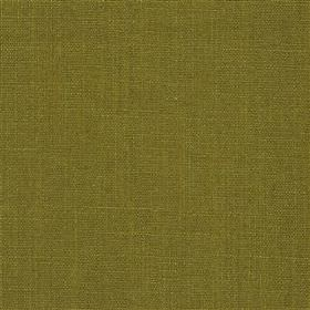 Highland Linen - Moss - Fabric made from linen and viscose in a stylish olive green colour