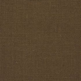 Highland Linen - Chestnut - Dark espresso coloured fabric made from a combination of linen and viscose