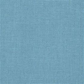 Highland Linen - Fjord - Fabric made from a blend of bright sky blue coloured linen and viscose