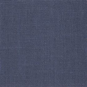 Highland Linen - Midnight - Linen and viscose blend fabric made in a plain, deep shade of navy blue