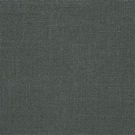 Highland Linen - Moonlight - Dark charcoal coloured linen and viscose blended together into a plain fabric