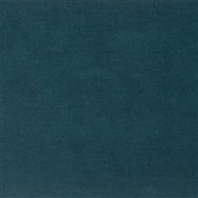 Yvette - Spruce - Plain marine blue coloured fabric made from a mixture of cotton, modal and polyester