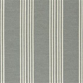 Malantre - Dove - Light grey and white fabric blended from various different materials, featuring a regular vertical stripe design