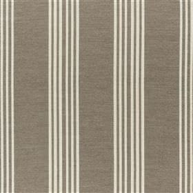 Malantre - Biscuit - Fabric blended from various different materials, featuring groups of narrow vertical stripes in white and iron grey