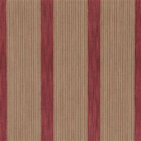 Zakira - Beetroot - Vertically striped fabric blended from a mixture of cotton and jute, made in maroon and light grey colours