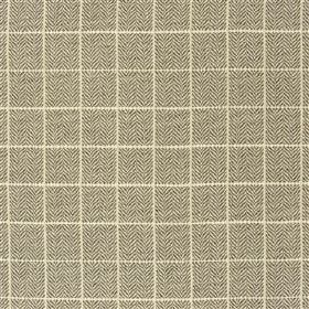 Branette - Cocoa - Dark and light shades of grey making up a thin grid on a small herringbone pattern, on fabric made from several materials