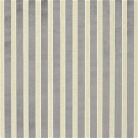 Culvante - Dove - Fabric made from viscose, polyester, linen and cotton, with a regular vertical stripe design in silver grey and white