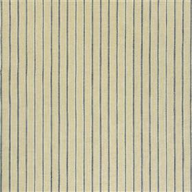 Penwerris - Navy - Beige fabric blended from various different materials, featuring a widely spaced pinstripe design in dark blue-grey