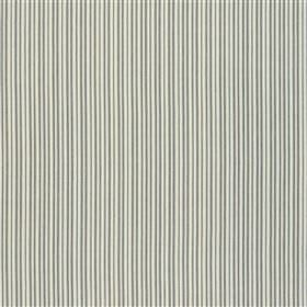 Charlestown - Navy - Thin, closely spaced lines running down 100% cotton fabric in two different light shades of grey