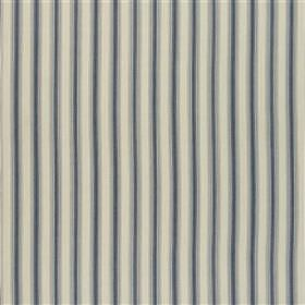 Padstow - Navy - 100% cotton fabric made with a thin, regular striped design in three different shades of grey
