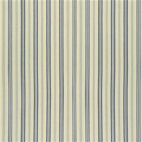 Rock  - Marine - Two dark shades of blue-grey and two light shades of grey making up a vertical stripe pattern on 100% cotton fabric