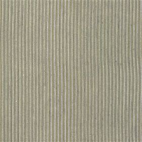 St Just - Navy - Two very similar shades of grey making up a subtle vertical stripe pattern on fabric blended from cotton and jute