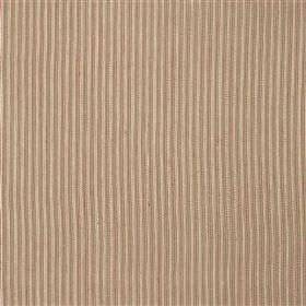 St Just - Poppy - Cotton and jute blended together into a subtly striped fabric in light, pinkish grey and cream tones