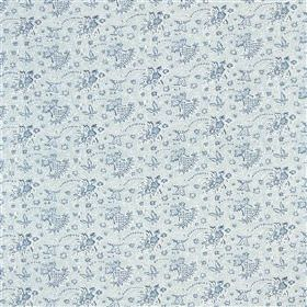 Antony - Ocean - 100% cotton fabric made with a small, delicate floral design inlight, fresh shades of blue