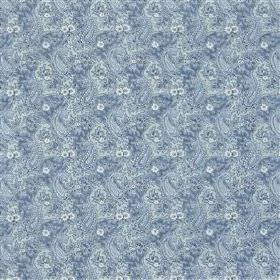 Millbrook - Ocean - Various different shades of baby blue making up a subtle, slightly blurry pattern on fabric made from 100% cotton