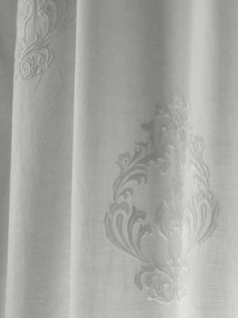 Andrew Martin -  Carlotta Fabric Collection - Very subtle embossed patterns on snow white coloured fabric