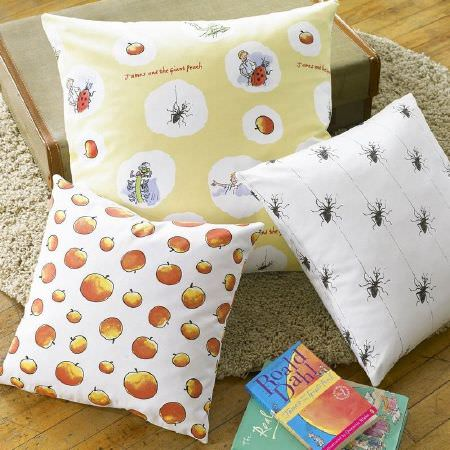 Ashley Wilde -  Roald Dahl Fabric Collection - Spider print cushion,