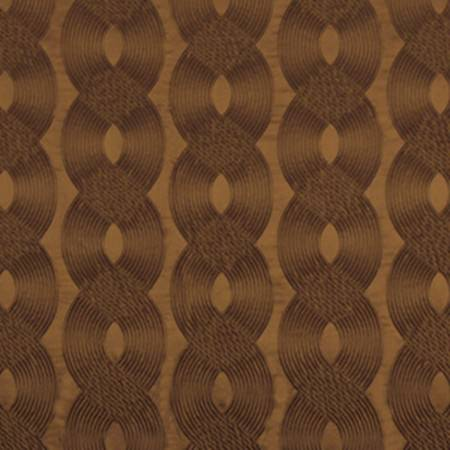 Beacon Hill -  Modern Silk II Fabric Collection - Thick wavy dark brown stripes embroidered in an overlapping design on chocolate brown coloured fabric