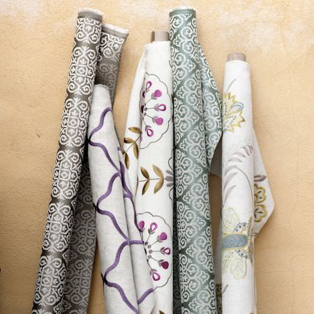 Clarke and Clarke -  Bukhara Fabric Collection - Moroccan style fabric rolls