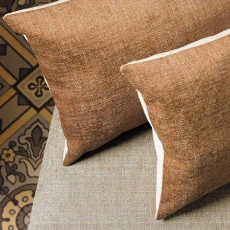 Clarke and Clarke -  Eton Fabric Collection - Brown chenille cushions