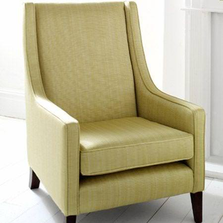 Clarke and Clarke -  Fenton Fabric Collection - Green textured fabric armchair