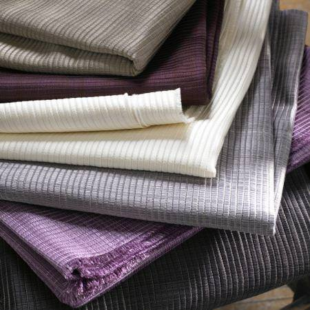 Clarke and Clarke -  Fenton Fabric Collection - Grey and purple textured fabrics