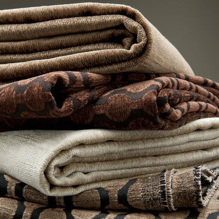 Clarke and Clarke -  Lazzaro Fabric Collection - Brown and cream fabrics from the Lazzaro collection