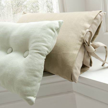 Clarke and Clarke -  Lindow Fabric Collection - Large cream and neutral cushions