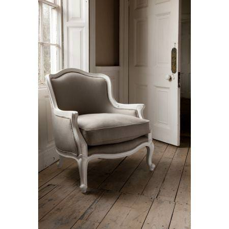 Clarke and Clarke -  Lindow Fabric Collection - Classic grey brown uphostered chair