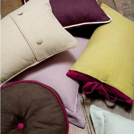 Clarke and Clarke -  Lindow Fabric Collection - Assorted linen cushions