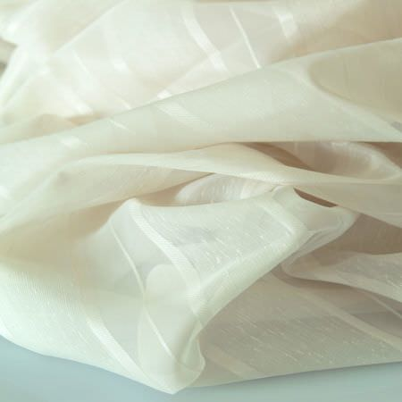 Clarke and Clarke -  Luxe Sheers Fabric Collection - Cream sheer fabric