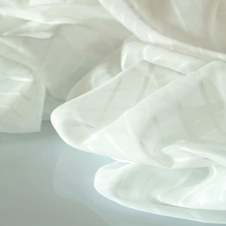 Clarke and Clarke -  Luxe Sheers Fabric Collection - White sheer fabric