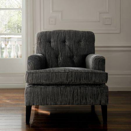 Clarke and Clarke -  Mandalay Fabric Collection - Dark grey armchair
