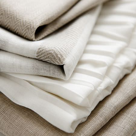 Clarke and Clarke -  Natura Sheers Fabric Collection - White and neutral fabrics