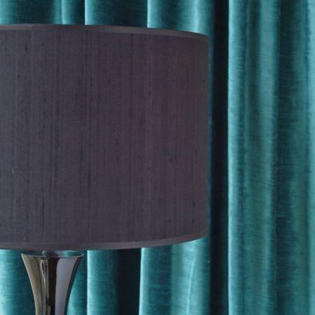 Clarke and Clarke -  Paris Fabric Collection - Turquoise velvet curtain